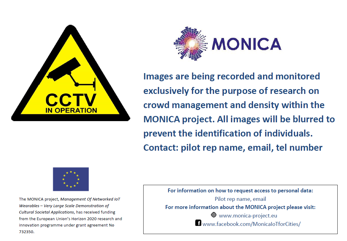 Example of GDPR compliant CCTV notice poster